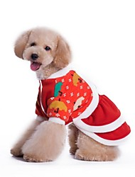 Dog Dress / Clothes/Clothing Red Winter Christmas Cosplay / Christmas