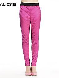Women's Bodycon/Plus Sizes Pants Inelastic Blue/Red/Black/Green/Yellow/Purple