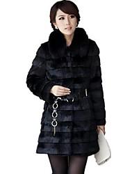 inverno magro falso casaco de pele de raposa das mulheres mais cores