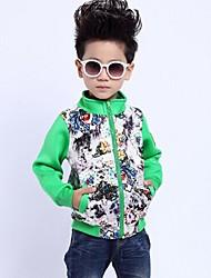 Boy's Ink Flower Mixed Color Coat