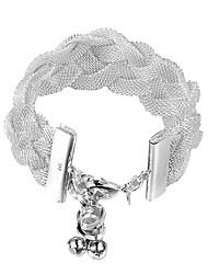 mulheres de prata esterlina jóias trança 925 pulseiras de prata bangles moda jóias Pulseiras Femininas pulseiras para as mulheres