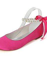 Women's Wedding Shoes Round Toe Flats Wedding/Party & Evening Black/Ivory/Blue/Pink/Red/White