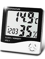 Digital Household Temperature Humidity Meter with Calendar Time Alarm Clock Function BOYANG HTC-1