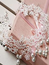 novia collar delicado encaje