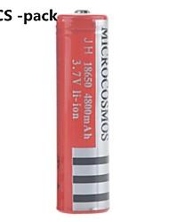 microcosmos 4800mah 18650 batería de iones de litio recargable (8pcs)