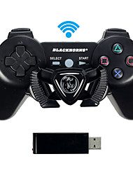 Black Horn Dual Shock PC Controller Computer Racing Game Controller