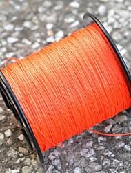 0,23 milímetros linha de pesca resistente à abrasão (200 metros de comprimento, 12,7 kg, laranja)