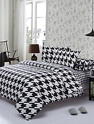 Mingjie Black and White World Sanding Bedding Sets 4pcs Duvet Cover Sets Bed Linen China Queen Size and Full Size