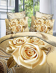 Shengyue 3D Floral Print Bedding Four Piece