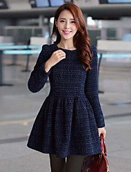 Women's Fashion Winter All Match Tweed Dress
