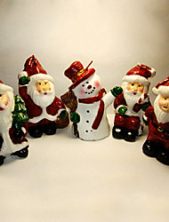 Набор из 5 Свеча рождества Санта, парафин