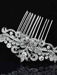 Women's Flower Girl's Rhinestone Alloy Headpiece-Wedding Hair Combs