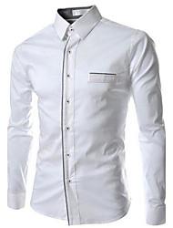 Men's New Luxury Trim Long Sleeve Shirt