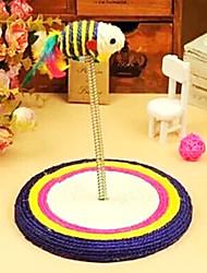 plataforma da mola com brinquedos sisal rato para gatos de estimação