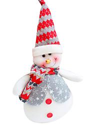 Christmas Ornament Schneemann mit Geschenk-Box, Stoff