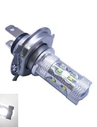 Cris h4 60w 6500k ledx12 lumière blanche -7000k ampoule led pour voiture (12-24, 1pc)