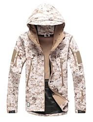 Desert Camouflage Shark Skin Soft Shell Waterproof Hunting Jacket