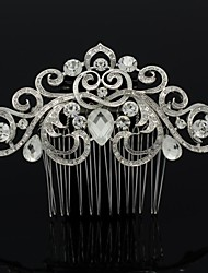 De 9.2cm vrouwen bruiloft bruids prom spoel bloem haar kam sieraden met legering en strass