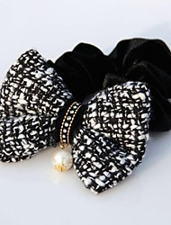 Women's Slub Cotton Bow with Peal Hair Tie