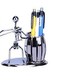 fanjiushi ® decorazioni di arte del metallo penna contenitore casa arredamento ufficio scrivania arte violino