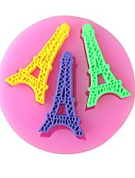 париж башня выпечки помадной торт Choclate конфеты плесень, l7cm * w6.9cm * h0.7cm см-256
