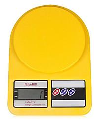 digitale keukenweegschaal voedsel 5000g / 1g, plastic 24x16.5x3.5cm