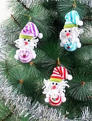 listrado segurar o ornamento do boneco de neve bola pingente de natal árvore de natal decoração (aleatório) (1 pc)
