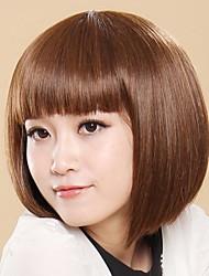 Natural  Trend  Full Short Bobo Light Brown Straight Hair Wigs