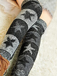 Women's Star Pattern Knit Boot Socks Leg Warmers
