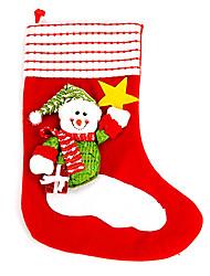 Natal meias decoração boneco de neve