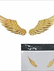 Del ala del ángel del coche 3d en forma de decoración de la etiqueta engomada