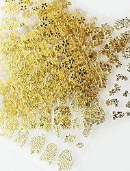 12PCS Mix Gold Sticker Nail Art Nail Decorations