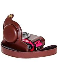 pajiatu® retro macchina fotografica del cuoio della copertura del sacchetto della cassa protettiva dell'unità di elaborazione con la porta di ricarica