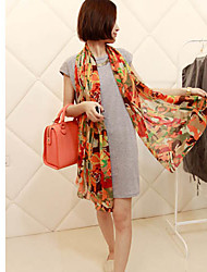 Wishes Silk Multi-Color Long Scarf
