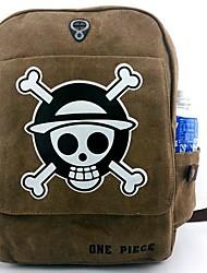 bolsa Inspirado por One Piece Cosplay Animé Accesorios de Cosplay bolsa / mochila Marrón Lienzo / Nailon Hombre
