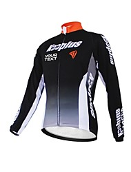 KOOPLUS Unisex Spring Autumn Customized Cycling Clothing Long Sleeve Polyester Cycling Jersey--Black+Orange