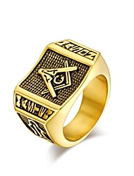 Personality Man Plating 18K Gold Ring