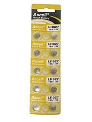 1.5v bateria de lítio botão LR927 (10 unid)