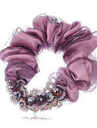 Korean Fashion Exquisite Wire Cloth Crystal Hair Ties