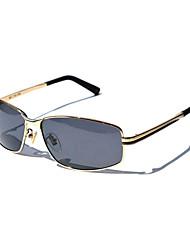 lunettes de soleil métal classique de conduite rectangle polarisée