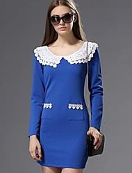 la robe de la mode en dentelle col des femmes