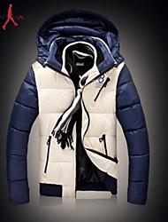 MANWAN WALK®Men's Casual Slim Fashion Down Jacket.Patchwork Thick Warm Cotton-padded Coat.Size L-3XL!