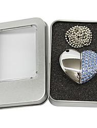 OUSU Heart Shape 4GB USB Flash Drive Pen Drive