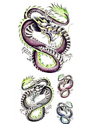 1pc Purple Dragon Bracelet Waterproof Body Art Tattoo Pattern Temporary Tattoo Sticker(18.5cm*8.5cm)
