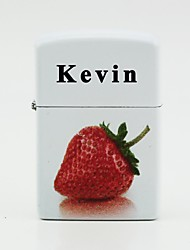 briquets personnalisés blanc - fraise