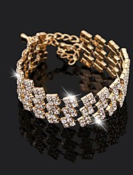 Women's Fashion Three Rows Fully Diamond Bracelet