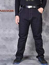 Men's Jeans , Casual Pure Denim/Fleece