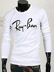 Men's New Letter Printed T-shirt Long Sleeve T-shirt
