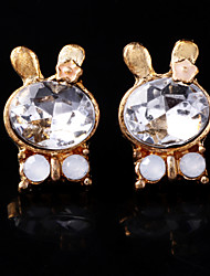 Cute Rabbit Crystal Earrings