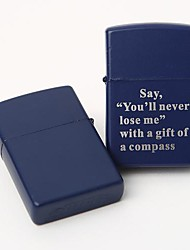 Personalized Engrave Blue Metal Oil Lighter